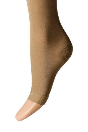 Open-toed compression socks knee-high, 22-27 mmHg