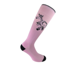 Flourish Pink compression socks