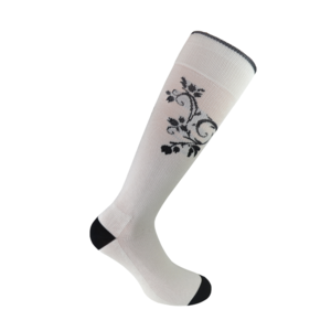 Flourish White compression socks